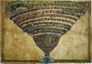 """ნახატი, რომლის  ხილვა სუსტი  ნერვების პატრონებისთვის აკრძალულია: ბოტიჩელის """"ჯოჯოხეთის რუკა"""""""