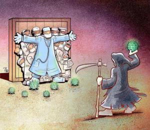 კორონავირუსი და მწარე რეალობა - 29 ილუსტრაცია ირანელი ილუსტრატორისგან