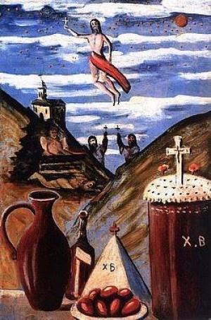 1918 წელს აღდგომის ღამეს გარდაცვლილი ნიკალას აღდგომა ლუვრიდან დაიწყო