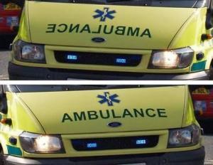 იცით რატომ აწერია AMBULANCE უკუღმა სასწრაფო დახმარების მანქანებს?