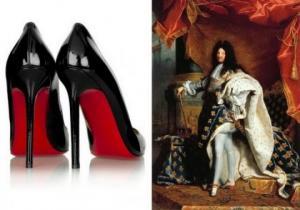 როგორ გაჩნდა ქუსლიანი ფეხსაცმელი წითელი ძირით