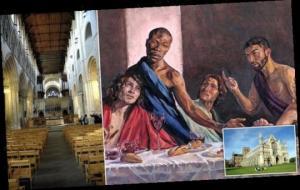 """დიდი ბრიტანეთის ეკლესიაში გამოჩნდა """"საიდუმლო სერობა"""",სადაც ქრისტე შავკანიანია"""