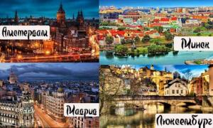 საინტერესო ფაქტები მსოფლიოს დედაქალაქების შესახებ