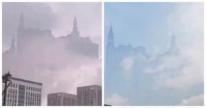 ჩინეთის ცაზე ქალაქი -მოჩვენება გამოისახა(ვიდეო)