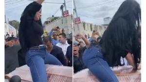 გოგონამ ტვერკი იცეკვა გარდაცვლილის კუბოზე (ვიდეო)