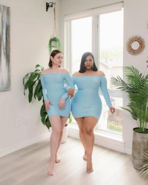 მეგობრები სხეულის სხვადასხვა ფორმებით ინტერნეტის ვარსკვლავები გახდნენ