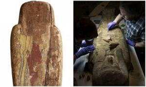 სამი ათასი წლის მუმიის სარკოფაგში უნიკალური ნახატები აღმოაჩინეს