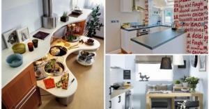 იდეები პატარა სამზარეულოებისთვის, რომლებიც უფრო მეტ სიმყუდროვეს შესძენს მათ (+ ფოტოები)