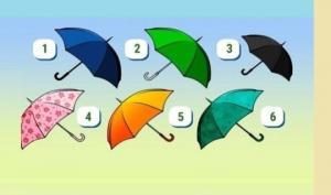 ტესტი: აირჩიე ქოლგა, თქვენს შესახებ მოგიყვებათ