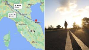 """იტალიელმა """"დასაწყნარებლად"""" 450 კილომეტრი ფეხით გაიარა ცოლთან ჩხუბის შემდეგ"""