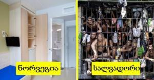 ფოტოები სხვადასხვა ქვეყნის ციხეებიდან: 13 კადრი, რომელიც ცხოვრების დონის  განსხვავებას ნათლად ასახავს