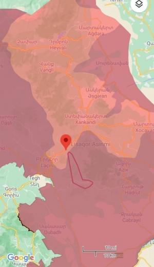 აზერბაიჯანში ხალხი უკმაყოფილოა რუსეთის მიერ გამოქვეყნებულ რუკის გამო