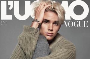 დევიდ და ვიქტორია ბექჰემების 18 წლის შვილის, რომეოს დებიუტი L'Uomo Vogue-ის გარეკანზე
