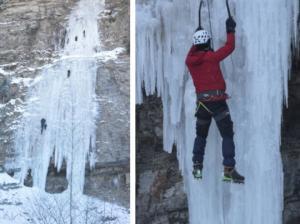 50 მეტრიანი გაყინული ჩანჩქერი გორის მუნიციპალიტეტში