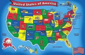 აშშ-ს ცალკეული შტატების დასახელებების მნიშვნელობა