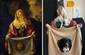 მხატვარი და მისი ძაღლი პანდემიის პირობებში ერთობიან