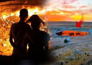 """""""ჯოჯოხეთის კარიბჭე"""" - ადგილი თურქმენეთში, სადაც ცეცხლი 50 წელზე მეტია არ ქრება!"""