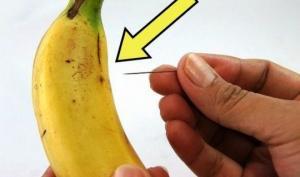 რა მოხდება, თუ ბანანს ნემსით უჩხვლეტთ: ხრიკი, რომელსაც სიამოვნებით გაიმეორებდით