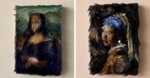 მხატვარი ცნობილ ნახატებს რეალურ 3D ბეწვის ნამუშევრებად გარდაქმნის