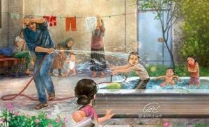 ცხოვრება ინტერნეტის გამოჩენამდე - ირანელი ალი მირის ლამაზი ილუსტრაციები, რომლებიც წარსულზე დაგაფიქრებთ