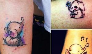 თუ ტატუ გიზიდავთ, მაშინ დაიხატეთ სხეულზე პატარა სპილო - გაიგეთ, რატომ