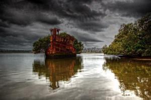 105 წლის მიტოვებული გემი,  რომელშიც ტყეა ( +ფოტო)