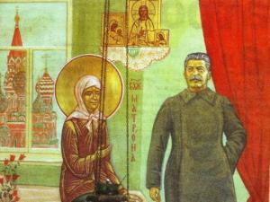 """ხატი """"მატრონი და სტალინი"""": რატომ გაიტანეს  იგი პეტერბურგის მახლობლად მდებარე  ეკლესიიდან"""