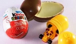"""აშშ-ში შოკოლადის კვერცხი  """"კინდერ სიურპრიზი"""" აკრძალულია - მიზეზი გაგაოცებთ"""