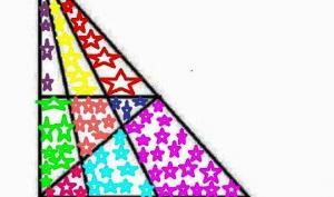 თავსატეხი: დაითვალეთ ფერადი სამკუთხედები - რამდენს ხედავთ?