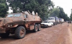 ცენტრალური აფრიკის რესპუბლიკაში რუსული კოლონის ჯავშანმანქანა  ააფეთქეს, არის მსხვერპლი