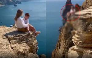 დედამ  შვილის სიცოცხლე რისკის ქვეშ დააყენა  ეფექტური კადრის გამო(ვიდეო)