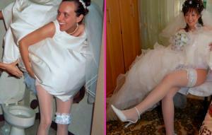 ნუთუ ეს ქორწილია? - კაბაწამოხდილი პატარძლები