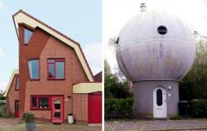 უცნაური სახლები ნიდერლანდებში, რომელთა შემქმნელებს ალბათ ჩვეულებრივი შენობები არ უნახავთ