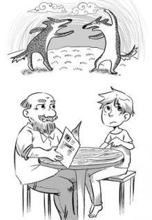 """""""ორი მგელი"""" - იგავი სიკეთესა და ბოროტებაზე"""