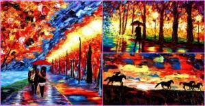 უსინათლო ხელოვანის საოცრად ფერადი ნახატები
