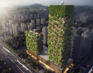 პირველი ვერტიკალური ტყე აზიაში,რომელიც ნახშირორჟანგს 60 კგ. ჟანგბადად აქცევს
