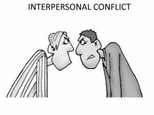 ინტერპერსონალური კონფლიქტები