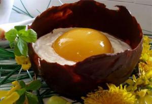 შოკოლადის კვერცხი-სააღდგომო დესერტი
