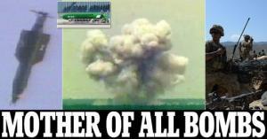 ამერიკელებმა ისლამური სახელმწიფოს წინააღმდეგ პირველად გამოიყენეს ყველა მძლავრი არაბირთვული ბომბი(ვიდეო)