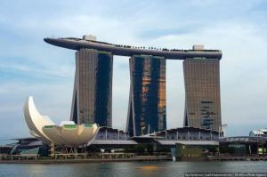სასტუმრო Marina Bay Sands-აუზი სახურავზე სინგაპურში
