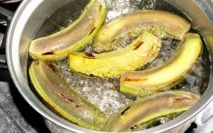 მოხარშული ბანანის ქერქი, რამდენიმე საათში გამქრალი ჭარბი წონა და მუცლის ცხიმი