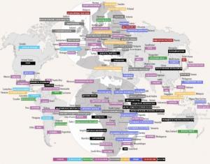 აი რით არის სახელგანთქმული თითოეული ქვეყანა (რუკა)