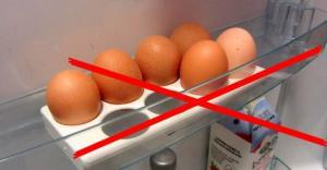 მაცივარში კვერცხის შენახვის წესები