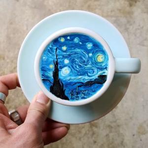 კორეელი ბარისტას მიერ ყავაზე შექმნილი ხელოვნების ნიმუშები (ფოტოგალერეა)