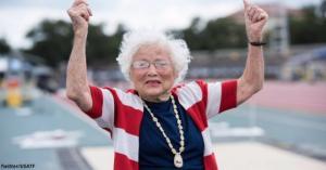 101 წლის ბებიამ 100 მეტრი 40 წამში დაფარა და მსოფლიოში საუკეთესო შედეგი აჩვენა
