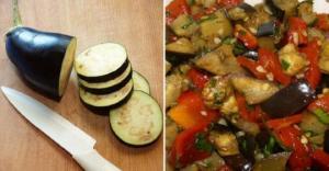 """""""ბადრიჯნის სალათა"""" ზამთრისთვის- გემრიელი და მარტივად მოსამზადებელი"""