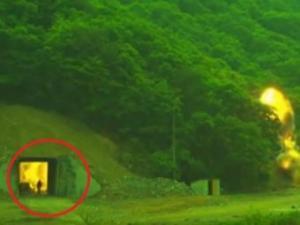 ჩრ.კორეაში სამხედრო წვრთნების  დროს ადამიანი ცოცხლად დაიწვა?(ვიდეო)