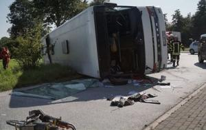 გერმანიაში ავტობუსი გადატრიალდა: დაზარალდა 44 უცხოელი