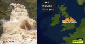 დიდი ბრიტანეთის მიმართულებით ქარიშხალი ეილინი მიემართება! აი, რატომ ეშინიათ მისი.