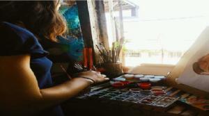 გორელი თვითნასწავლი მხატვრის შემოქმედება და ნახატებით გადმოცემული ემოციები-გაიცანით მარიამ ჩხიკვაძე